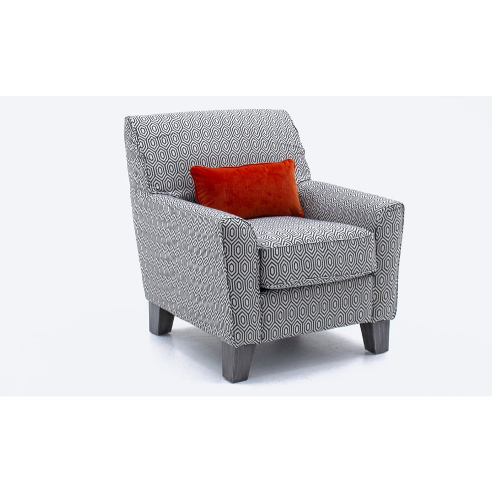 Cantrell Accent Chair - Graphite - Value Flooring and Furniture