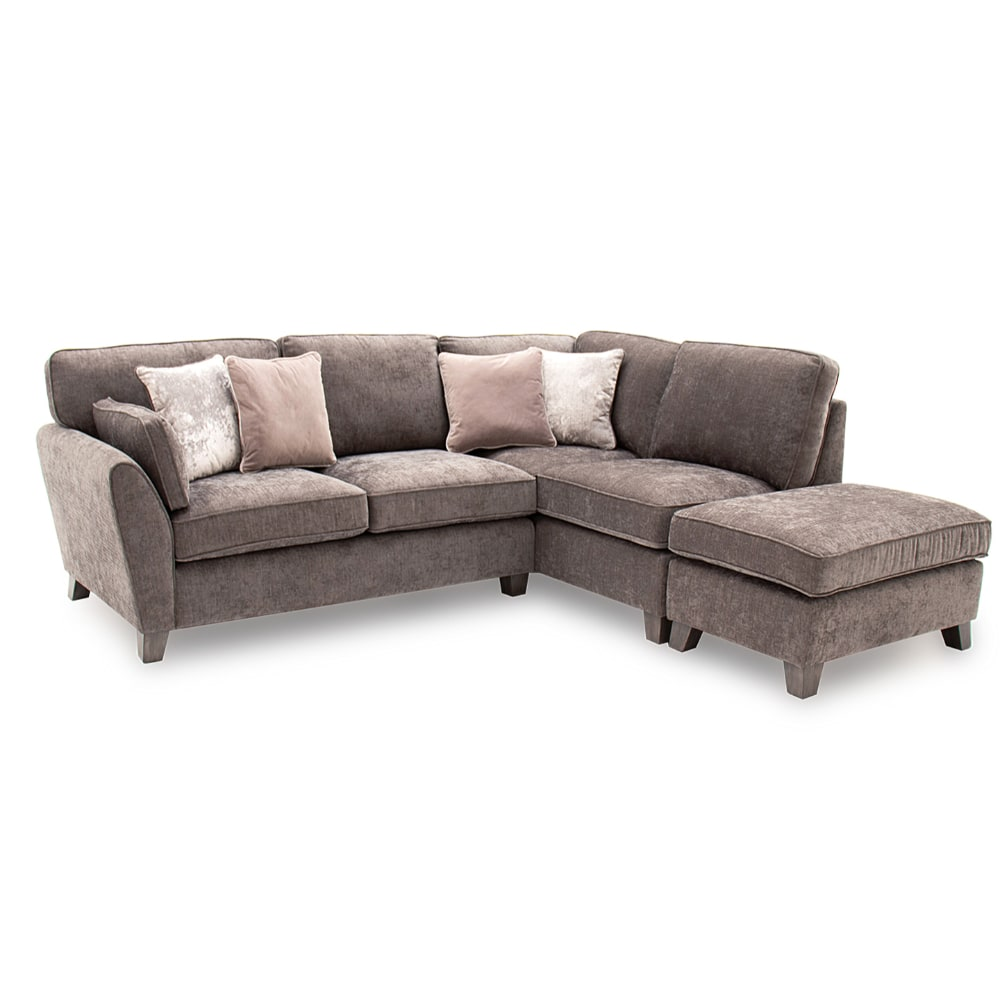 Cantrell Corner Sofa Group RHF Mushroom - Value Flooring and Furniture