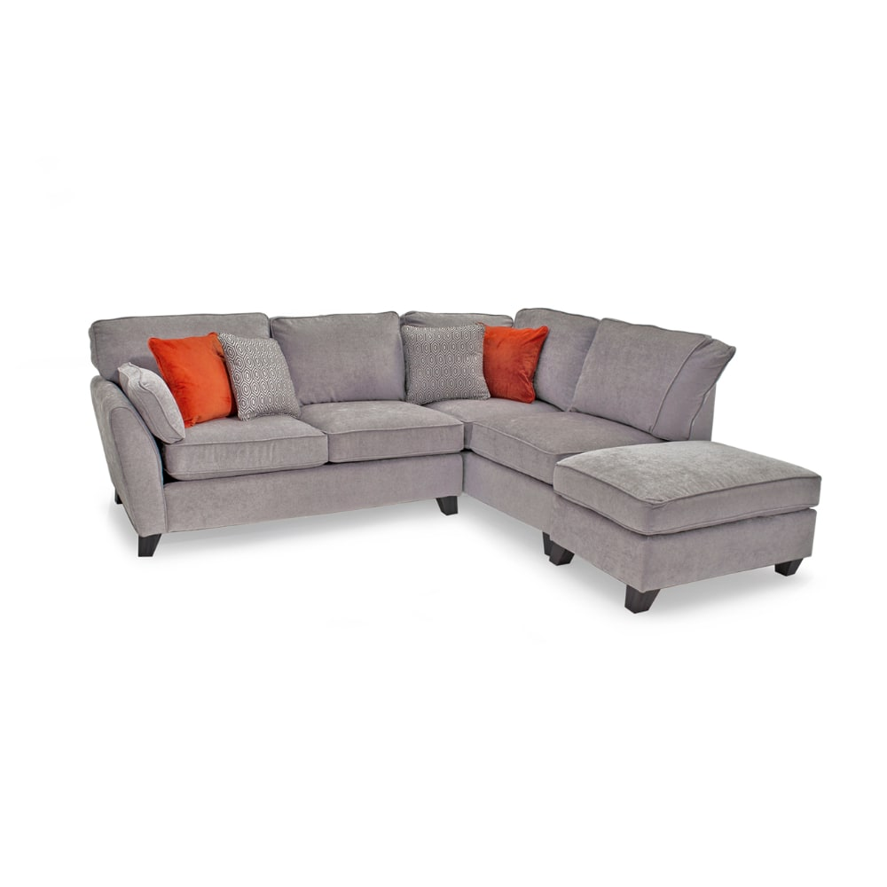 Cantrell Corner Sofa Silver - Value Flooring and Furniture