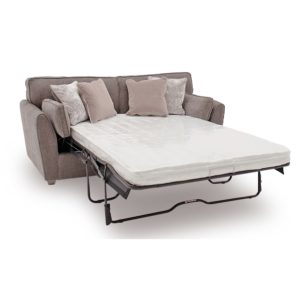 Cantrell Sofa Bed Mushroom Open - Value Flooring and Furniture