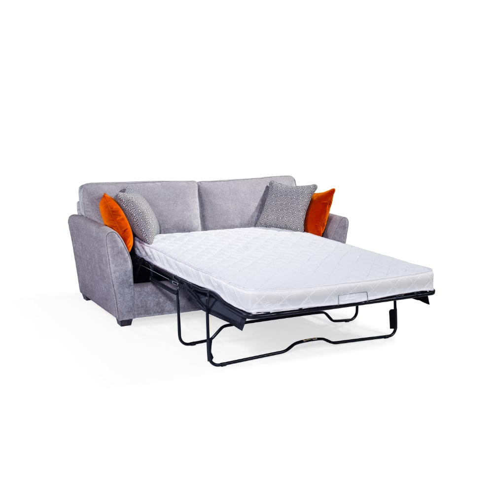 Cantrell Sofa Bed Silver - Open - Value Flooring and Furniture