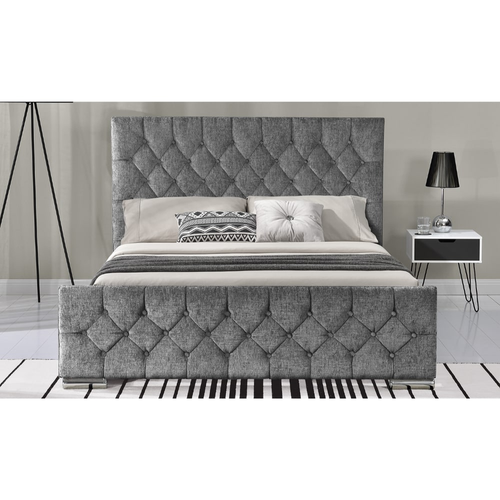 Carina 5' Bed - Silver Angle 1 - Value Flooring and Furniture