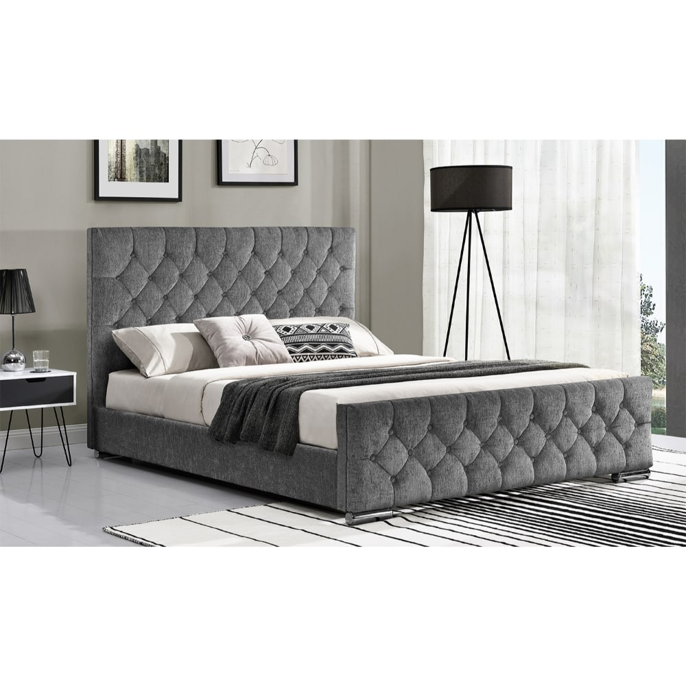 Carina 5' Bed - Silver Angle 2 - Value Flooring and Furniture