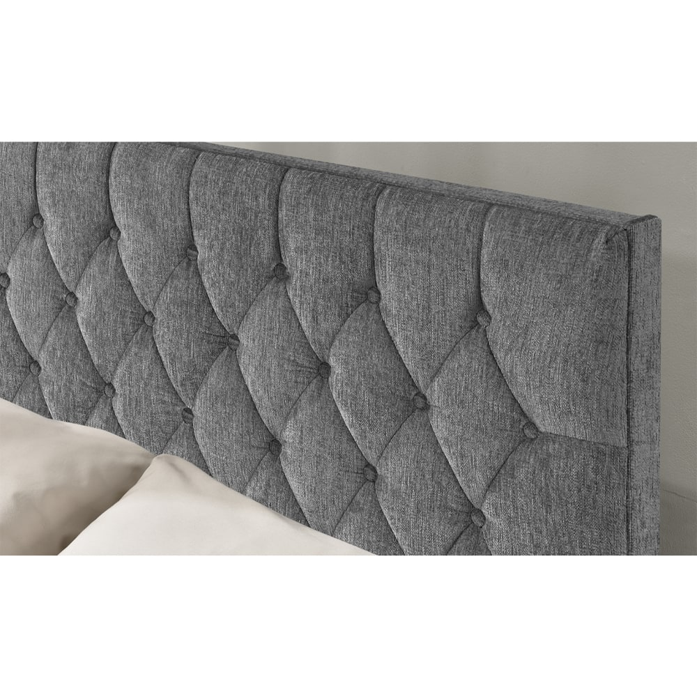 Carina 5' Bed - Silver Angle 3 - Value Flooring and Furniture