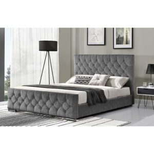 Carina 5' Bed - Silver Angle - Value Flooring and Furniture