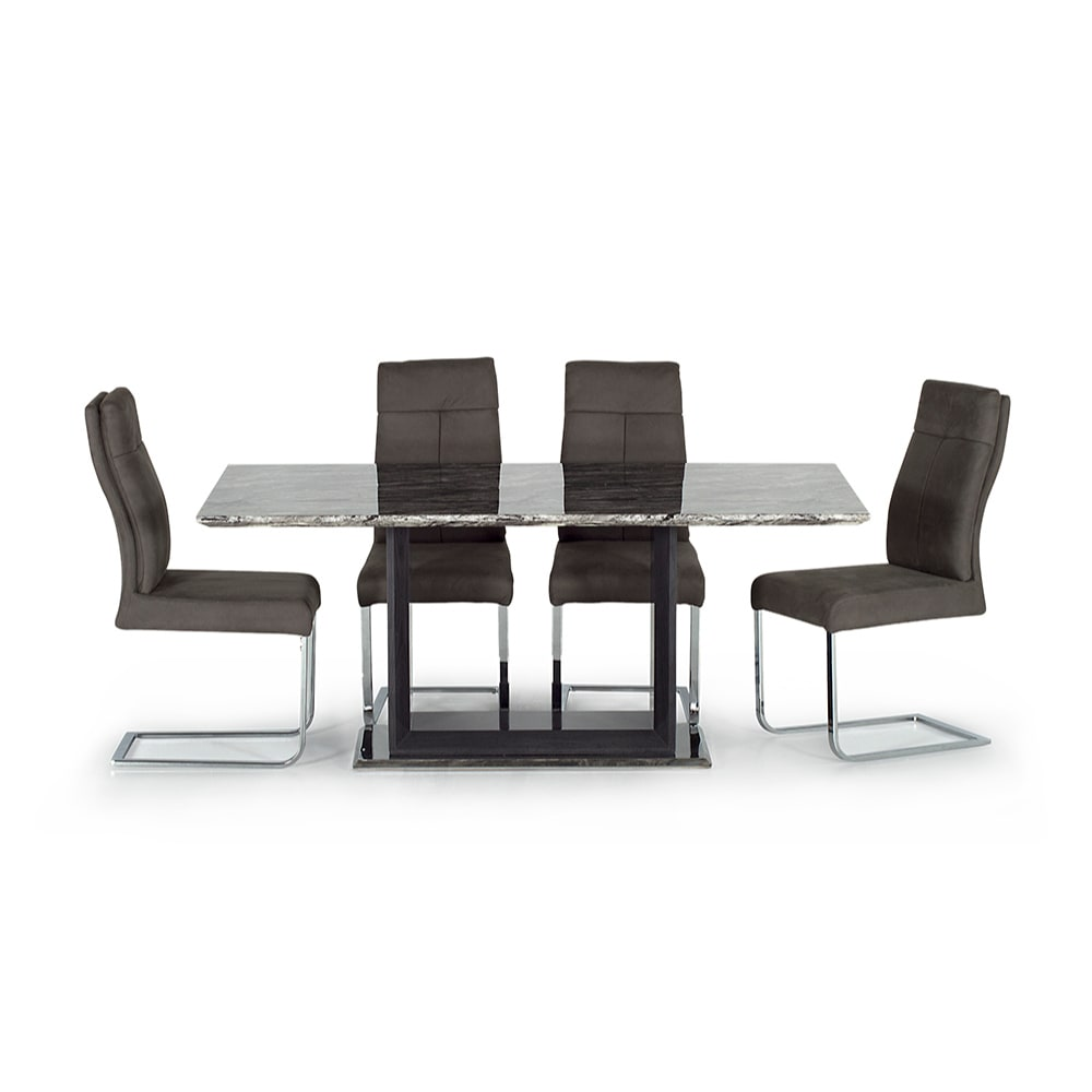 Donatella Dining Table 1600 & 4 Donatella Chairs - Value Flooring and Furniture