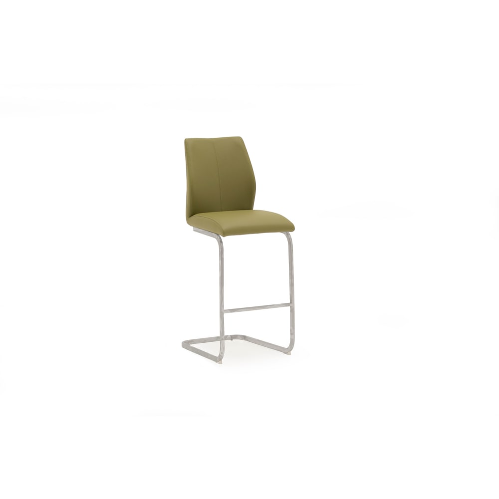 Elis Bar Chair Olive - Angle - Value Flooring and Furniture