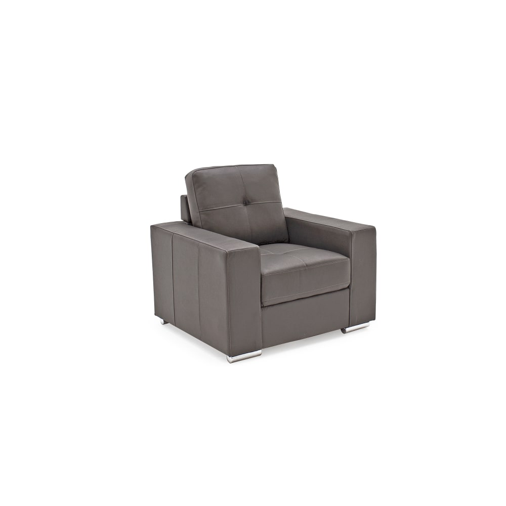 Gemona 1 Seater Grey Angled - Value Flooring and Furniture