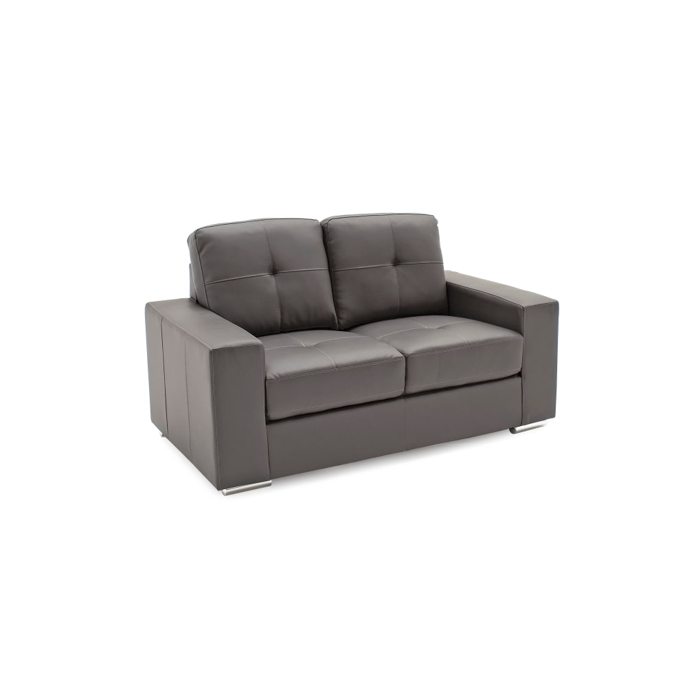 Gemona 2 Seater Sofa Grey Angled - Value Flooring and Furniture