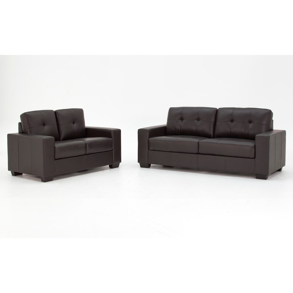Gemona Sofa Suite 3+2 Seater Brown - Cutout - Value Flooring and Furniture