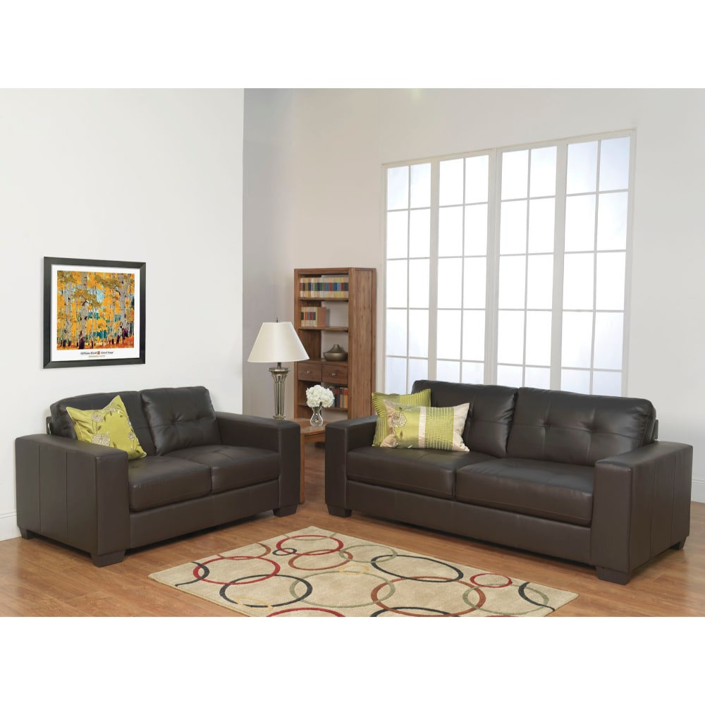 Gemona Sofa Suite 3+2 Seater Brown - Value Flooring and Furniture
