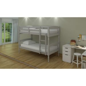 Alex 3' Bunk Bed - Grey - Value Flooring and Furniture