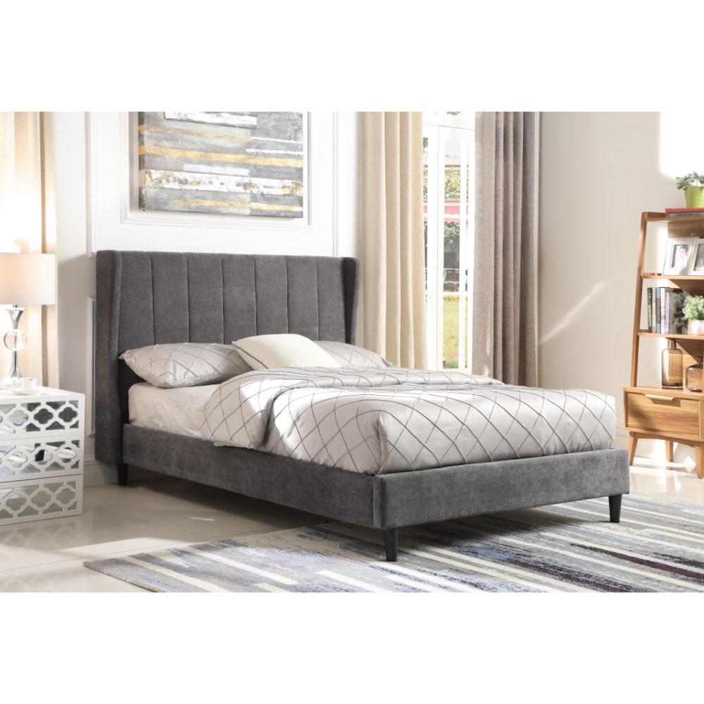 Amelia Bed - Dark Grey - Value Flooring and Furniture