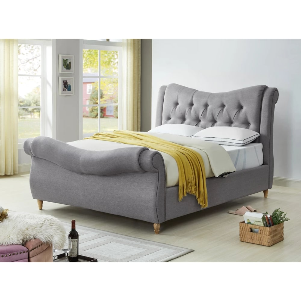 Arizona Bed - Light Grey - Value Flooring and Furniture