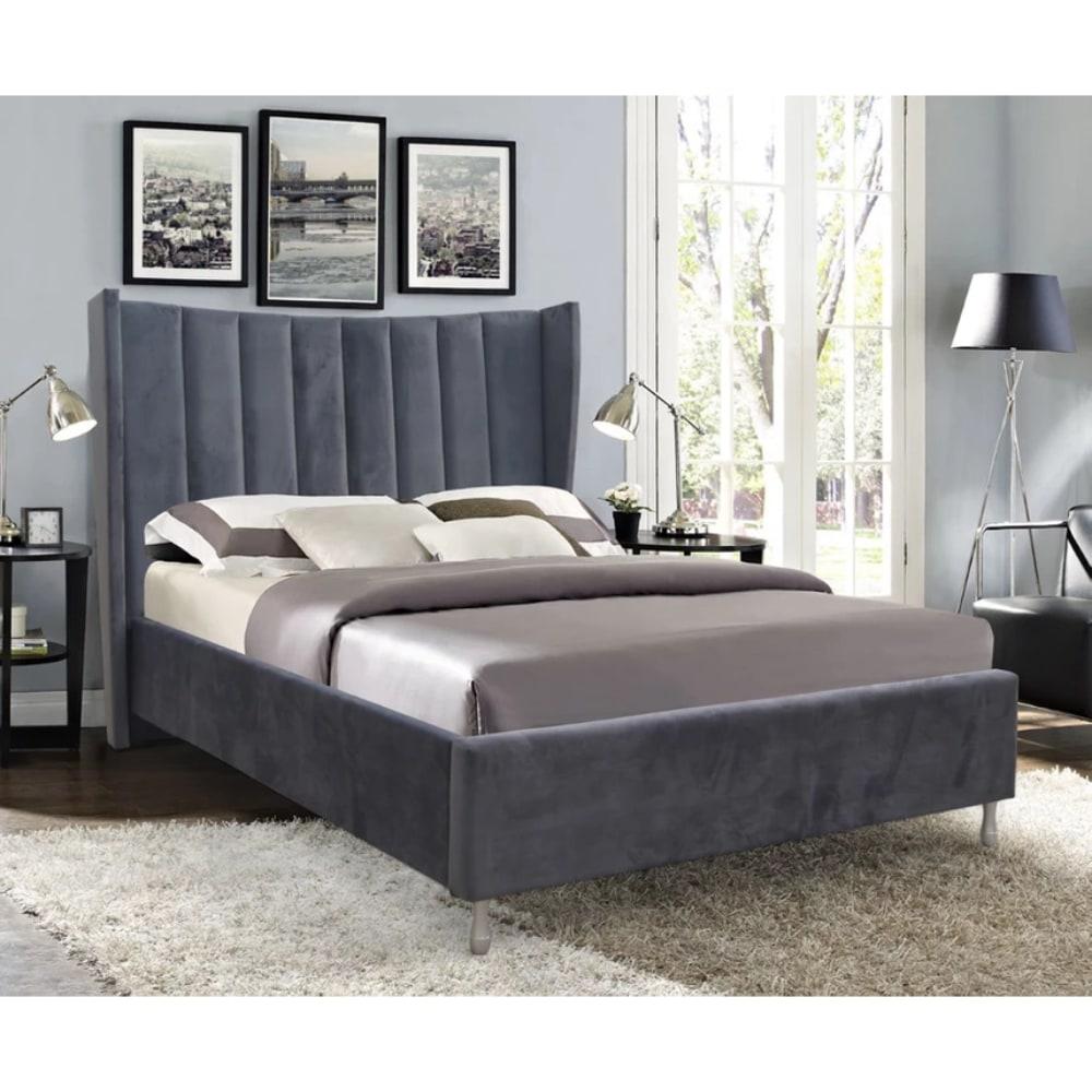 Aurora Bed - Grey - Value Flooring and Furniture