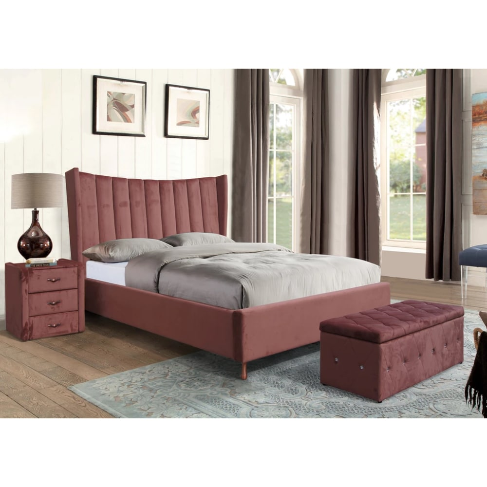 Aurora Bed - Pink - Value Flooring and Furniture