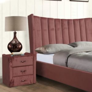 Aurora Bedside Locker - Pink - Value Flooring and Furniture