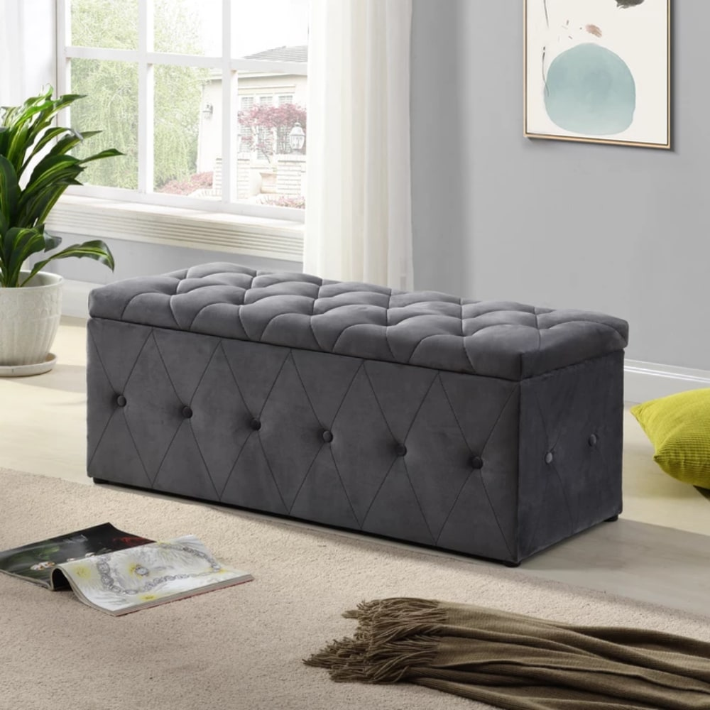 Blanket Box - Dark Grey - No Diamonds - Value Flooring and Furniture