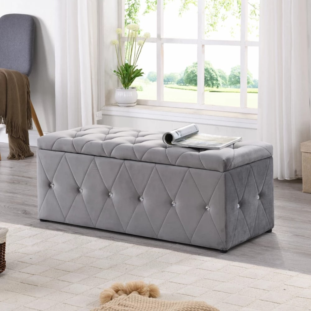 Blanket Box - Light Grey - Value Flooring and Furniture
