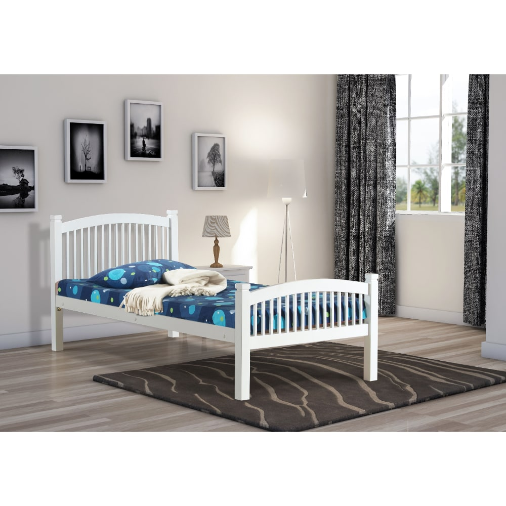 Carla 3' Bed - White - Value Flooring and Furniture