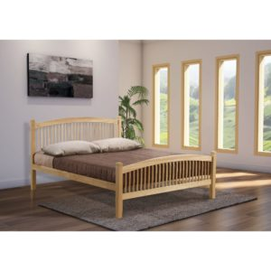 Carla 4'6 Bed - Beech - Value Flooring and Furniture