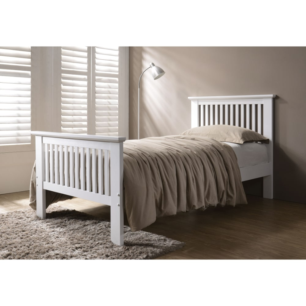 Denver 3' Bed - White - Value Flooring and Furniture