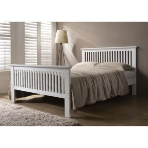 Denver 4'6 Bed - White - Value Flooring and Furniture