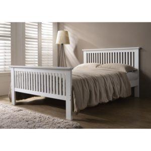 Denver 4'6 Bed - White - Value Flooring and Furniture