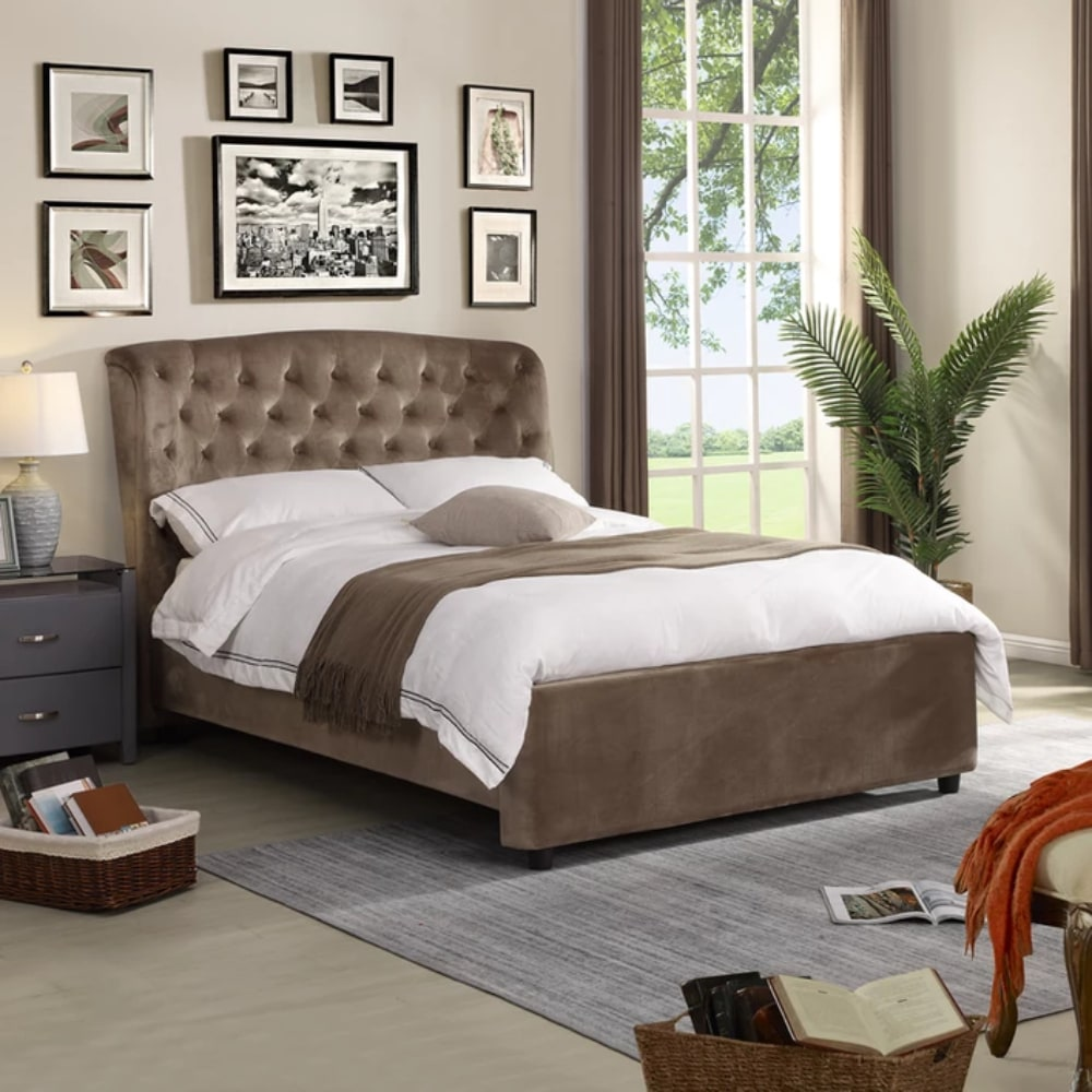 Florida Bed - Mink - Value Flooring and Furniture