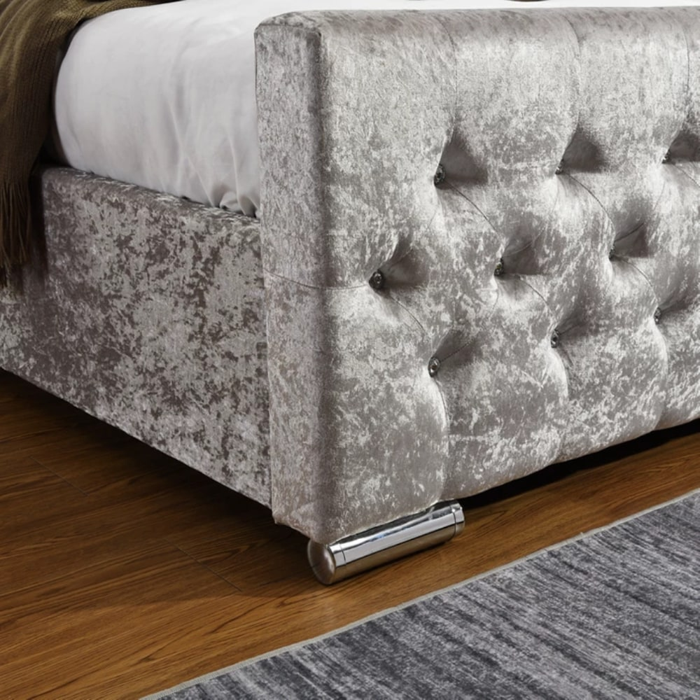 Galaxy Bed - Silver - Value Flooring and Furniture