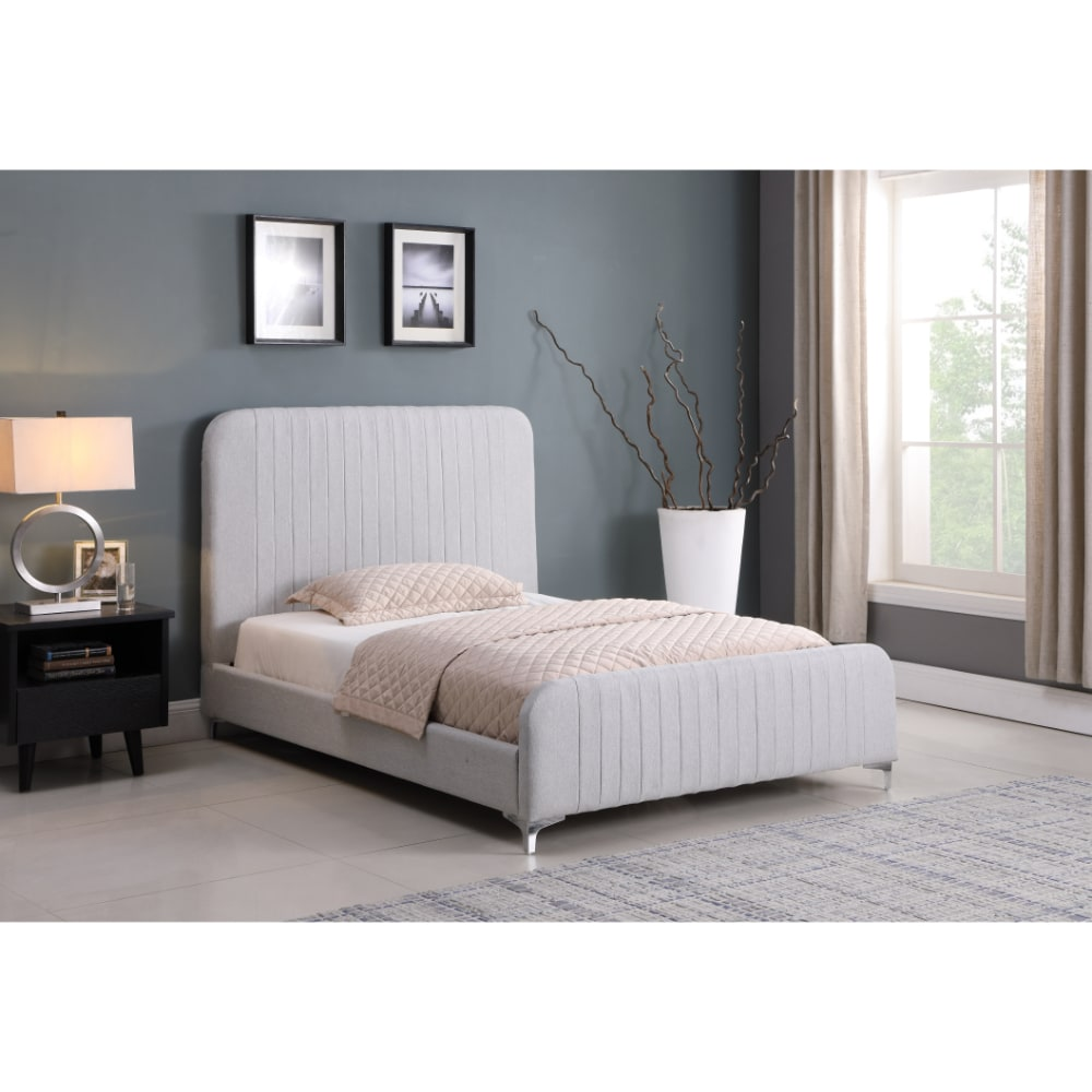 Hampton Bed - Light Grey - Value Flooring and Furniture