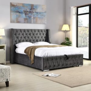 Jersey Gas Lift Bed - Grey - Value Flooring and Furniture