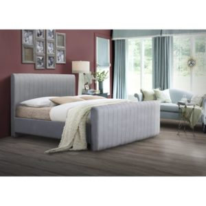 Kansas Bed - Light Grey - Value Flooring and Furniture