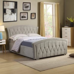 Kingston Gas Lift Bed - Light Grey - Value Flooring and Furniture