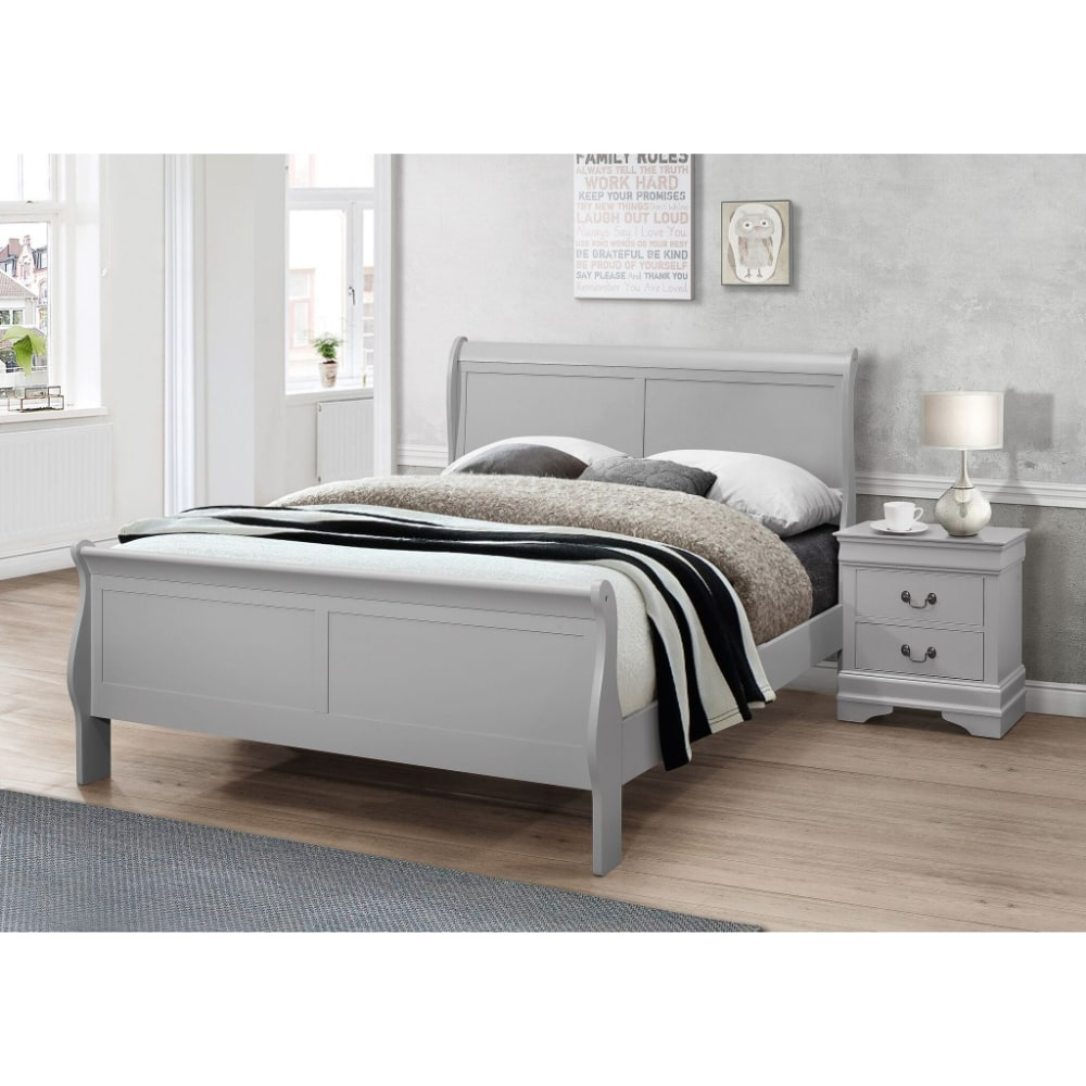 Louise 2 Drawer Bedside Locker - Value Flooring and Furniture