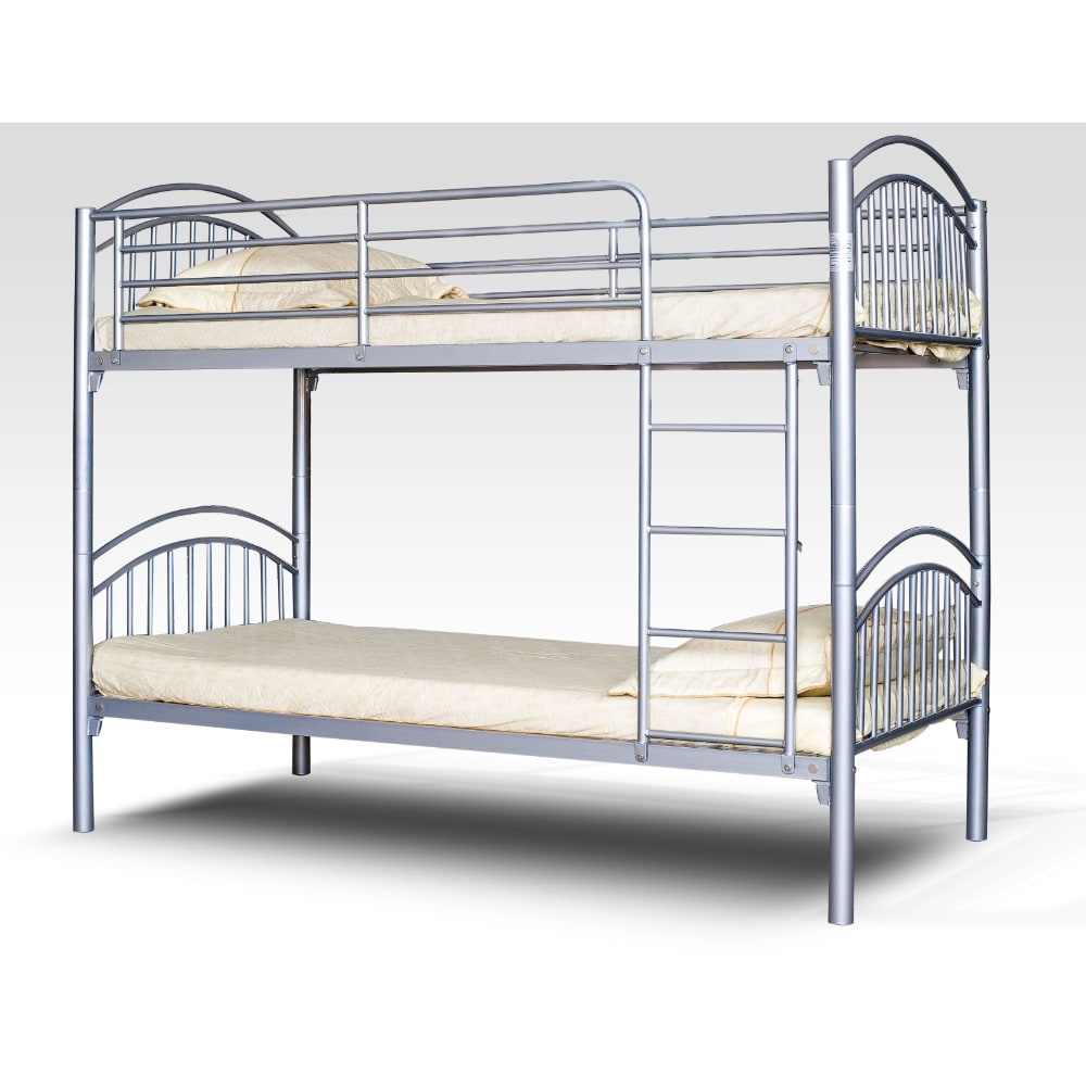 Moby 3' Bunk Bed - Silver - Value Flooring and Furniture