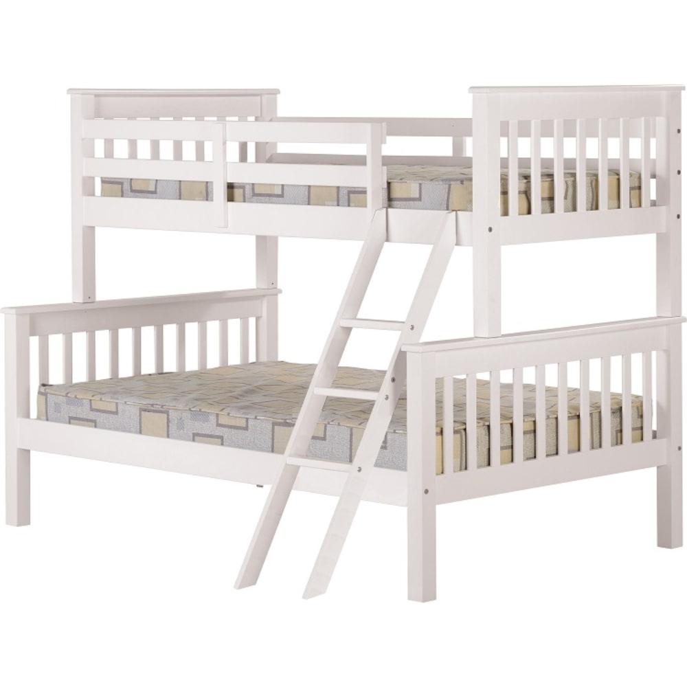 Neptune Triple Sleeper Bunk Bed - White - Value Flooring and Furniture