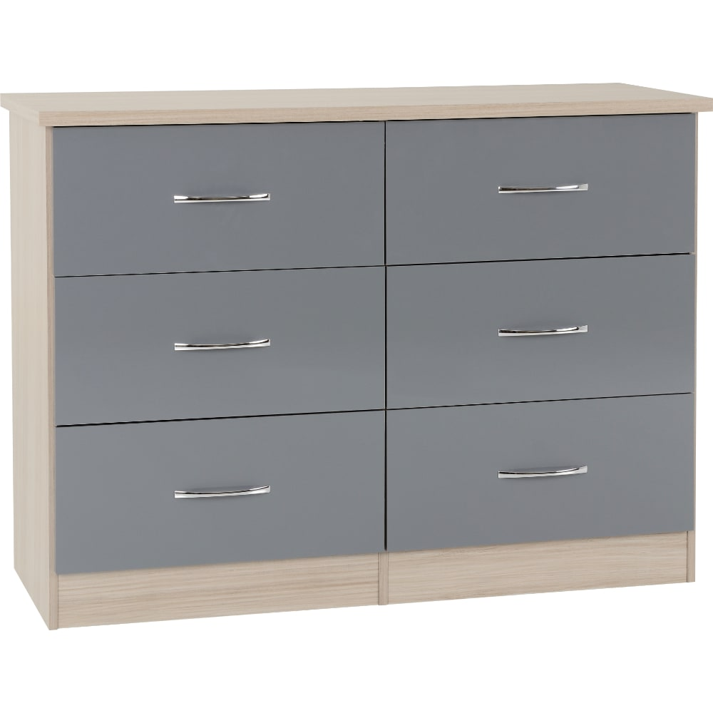 Nevada 6 Drawer Chest - Grey - Value Flooring and Furniture