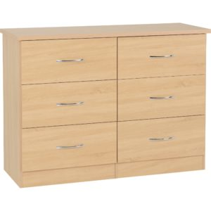 Nevada 6 Drawer Chest - Oak - Value Flooring and Furniture