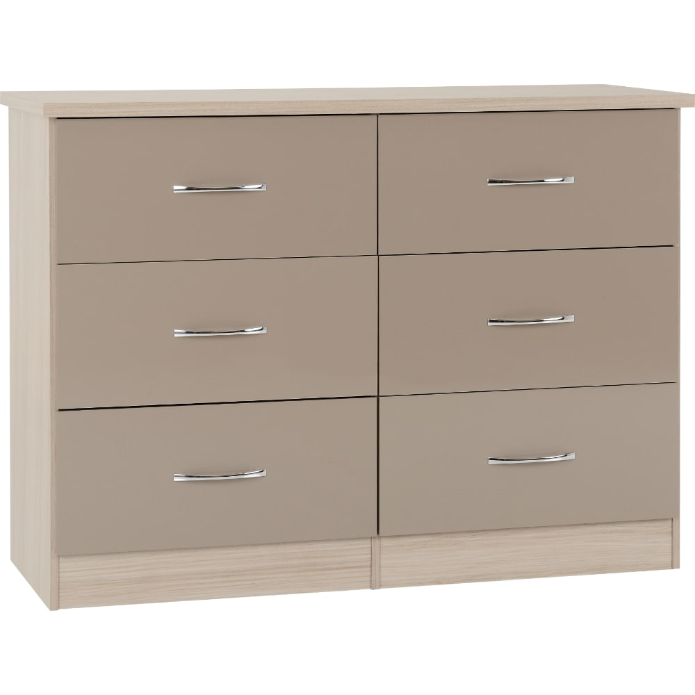 Nevada 6 Drawer Chest - Oyster - Value Flooring and Furniture