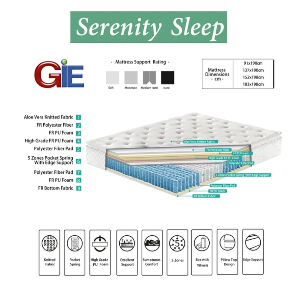 Serenity Sleep G-02 Detail - Value Flooring and Furniture