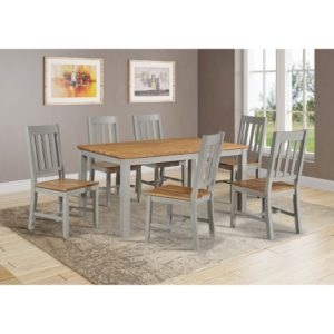 Stamford 5' Dining Set - Grey and Oak - Value Flooring and Furniture