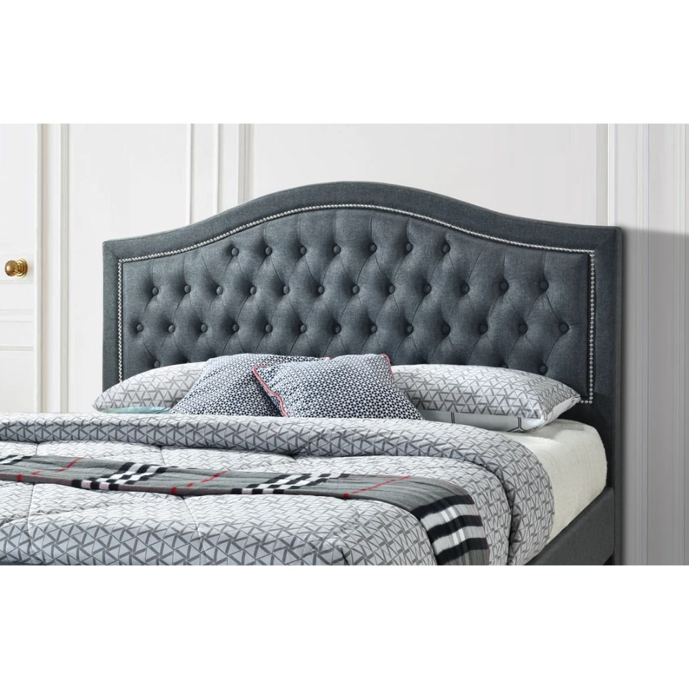 Taylor Bed Detail - Grey - Value Flooring and Furniture