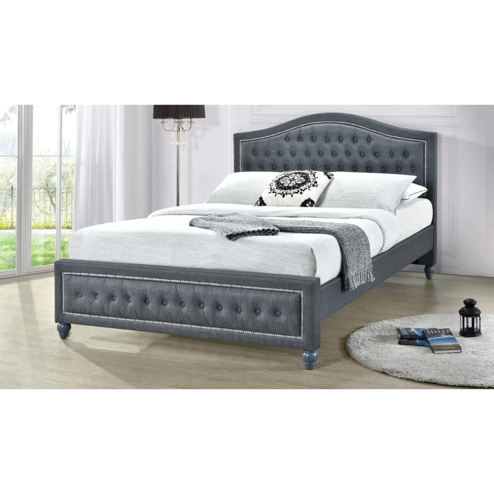 Taylor Bed - Grey - Value Flooring and Furniture