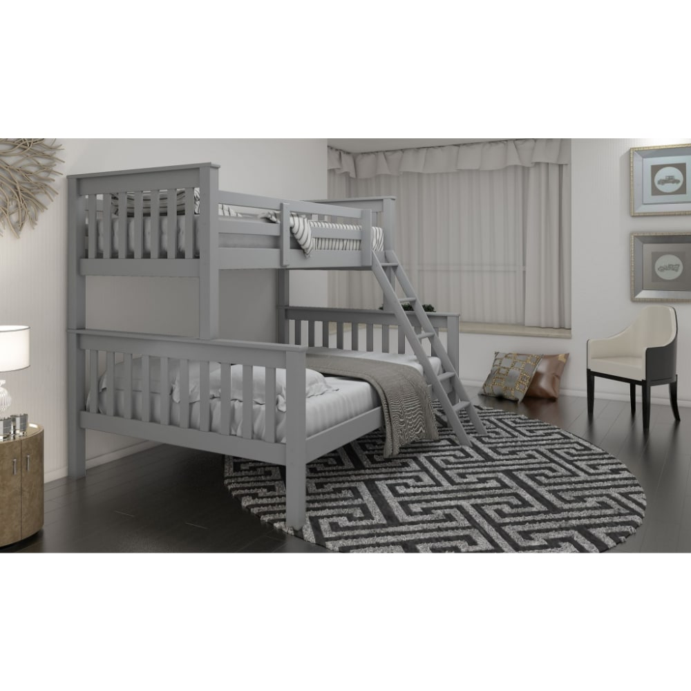 Triple Bunk Bed - Grey - Value Flooring and Furniture