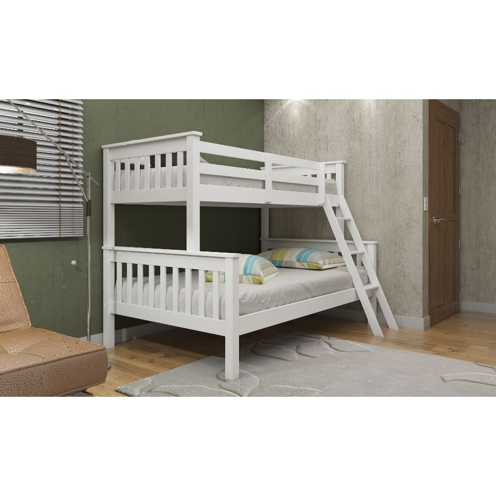 Triple Bunk Bed - White - Value Flooring and Furniture