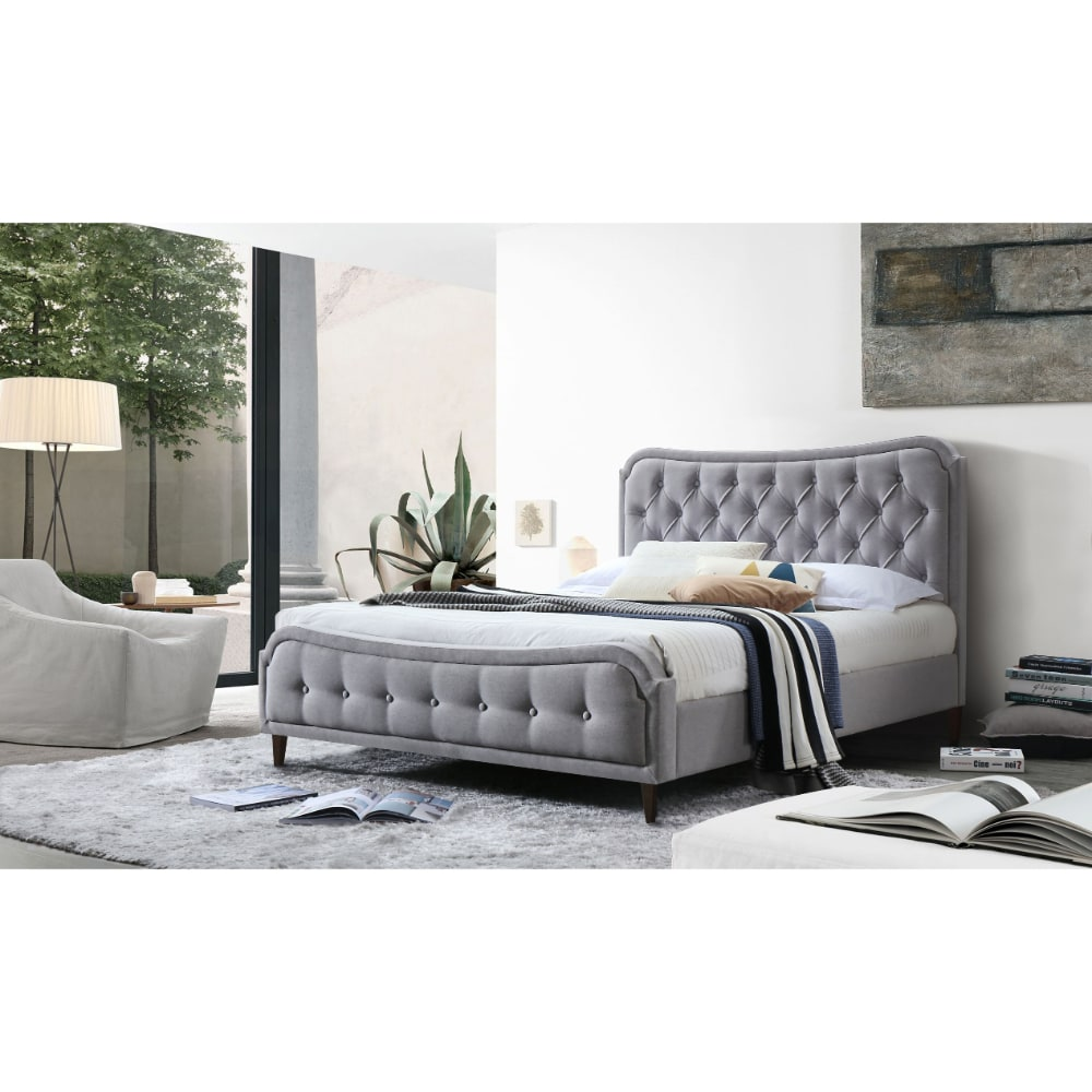 Vanessa Bed - Grey Heather - Value Flooring and Furniture