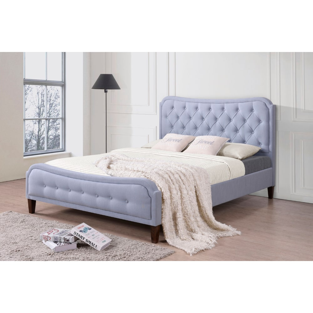 Vanessa Bed - Topaz Blue - Value Flooring and Furniture