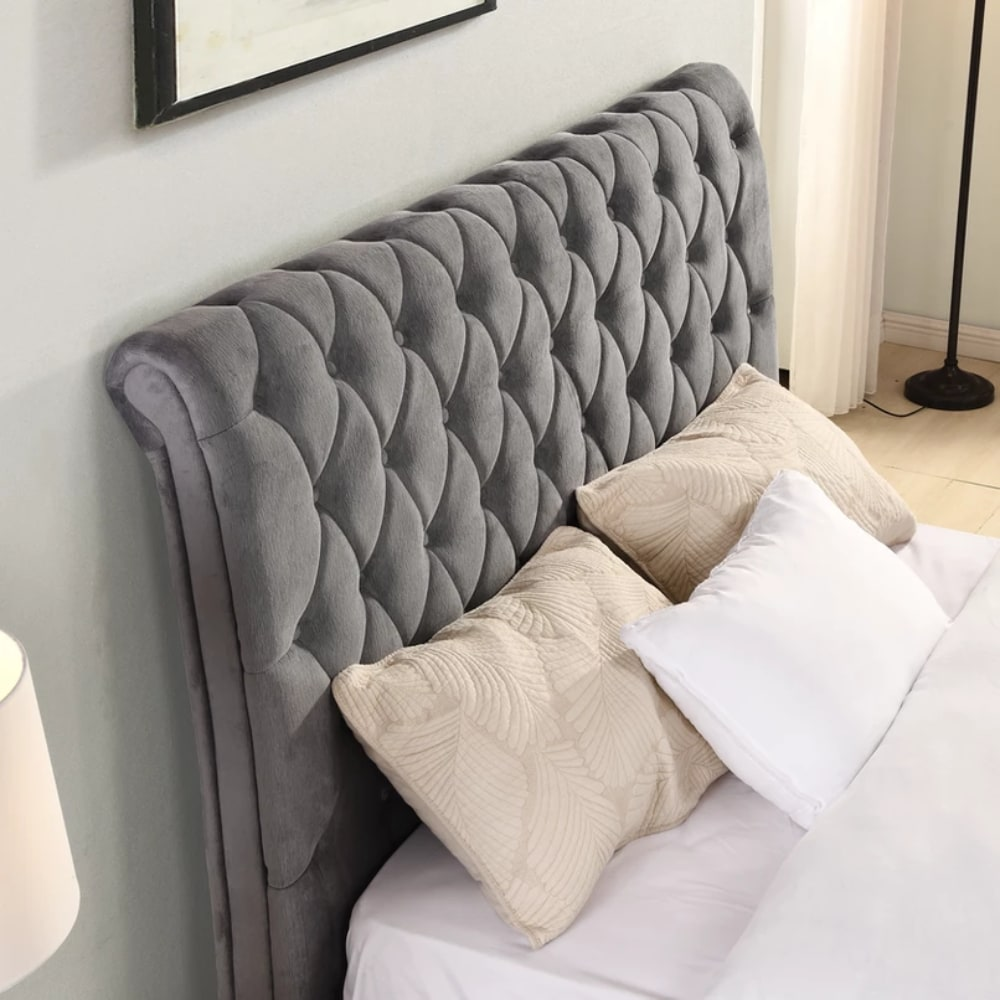 kilkenny Bed Detail - Grey - Value Flooring and Furniture