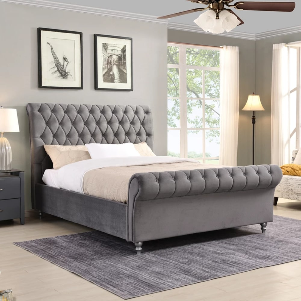 kilkenny Bed - Grey - Value Flooring and Furniture